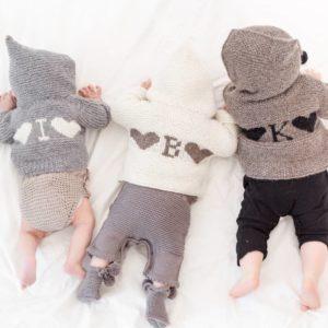 Layette lignes Intemporels Baby Knits cadeaux bébés personnalisables